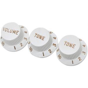 Fender USA 純正パーツ Fender Strat Vintage White Knobs Set white 0992035000 ストラトキャスター コントロール ノブ ツマミ 白 『並行輸入品』 audio-mania