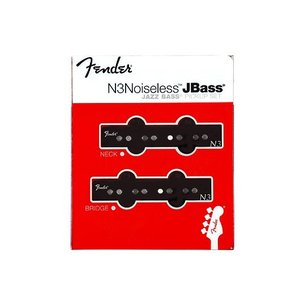 Fender フェンダー ピックアップ ジャズベース用 N3 set Noiseless Jazz Bass Pickup|直輸入品|audio-mania