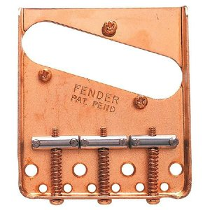Fender USA ブリッジ Vintage Tele 3-SaddleBridge Gold 99080620 0|直輸入品|ブリッジ|テレキャスター テレキャス|audio-mania