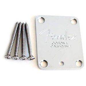 難あり Fender NECK PLATE AND BOLTS - AMERICAN STANDARD GUITAR 直輸入品 ネックプレート audio-mania