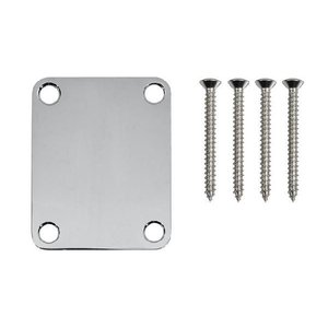 Fender ネックプレート NECK PLATE PLAIN CHROME AND BOLTS -|直輸入品|ネックプレート|メール便発送|audio-mania