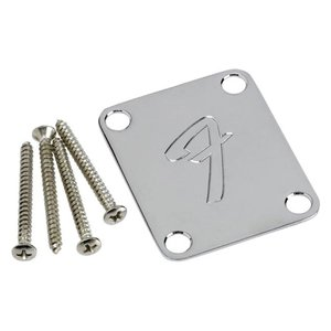 Fender ネックプレート NECK PLATE F Chrome AND BOLTS - 991448100|直輸入品|ネックプレート|audio-mania