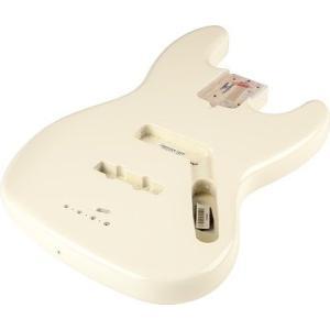 Fender USA フェンダー Jazz Bass Alder Body Olympic White 998007705 ジャズベース ボディ 塗装済み 交換用|audio-mania