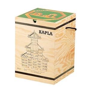 KAPLA カプラ 積木280(白木)+デザインブック( 中級・緑) 木箱入り│直輸入品|audio-mania