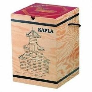 KAPLA カプラ 積木280(白木)+デザインブック( 中級・赤) 木箱入り│直輸入品|audio-mania