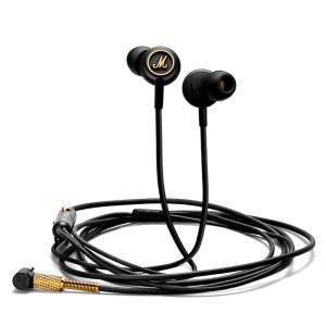 Marshall マーシャル イヤホン 有線 高音質 マイク MODE モード EQ  Black&Brass ブラック リモコン付き|直輸入品|audio-mania