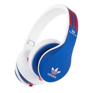Monster モンスター ヘッドホン 有線 高音質 マイク付き ヘッドフォン adidas Blue Red アディダス ブルー レッド おしゃれ|直輸入品|audio-mania