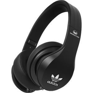 Monster モンスター ヘッドホン 有線 高音質 マイク付き adidas Black Headphones アディダス  |直輸入品|audio-mania