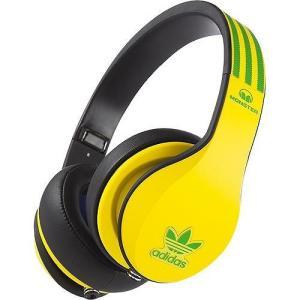 Monster モンスター ヘッドホン 有線 高音質 マイク付き adidas アディダス Yellow Headphones おしゃれ|直輸入品|audio-mania