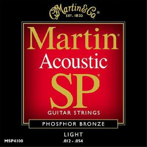 MARTIN アコースティック ギター 弦 MSP4100 Phosphor Bronze Light Acoustic Strings 12-54|audio-mania