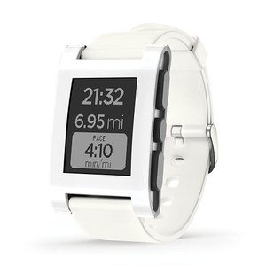 Pebble ぺブル Smart Watch スマートウォッチ for iPhone and Android Devices (White)  301WH|直輸入品|audio-mania