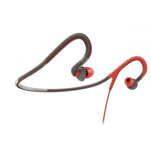 Philips フィリップス イヤホン 有線 高音質 SHQ4200 / 28 スポーツネックバンドヘッドフォン - オレンジ/グレー|直輸入品|audio-mania
