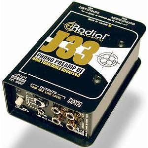 Radial J33 ラディアル J-33 ターンテーブル用 フォノプリアンプ DI ダイレクトボックス Direct Box 直輸入品 audio-mania