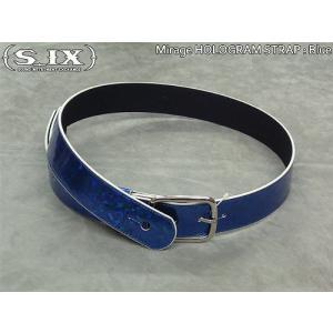 SAGO guitar S_IX ギターストラップ Mirage Blue ブルー 国内正規品 audio-mania