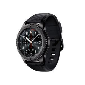 【工場再生品】Samsung サムスン Galaxy Gear S3 Frontier Steel Black R765A ブラック スマートウォッチ |直輸入品|audio-mania