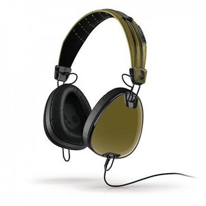 Skullcandy スカルキャンディー ヘッドホン 有線 高音質 マイク付き Aviator (Green Black)  S6AVDM-234 おしゃれ│直輸入品 audio-mania