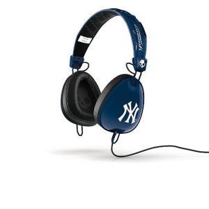 Skullcandy スカルキャンディー ヘッドホン 有線 高音質 マイク付き Aviator (Yankees) S6AVFM-277 ヤンキース おしゃれ│直輸入品 audio-mania