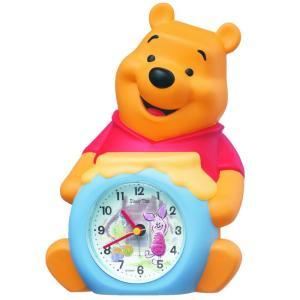 SEIKO CLOCK(セイコークロック) 目覚まし時計 アナログ くまのプーさん キャラクター型  おしゃべり アラーム Disney Time ディズニータイム FD463A|新品|audio-mania
