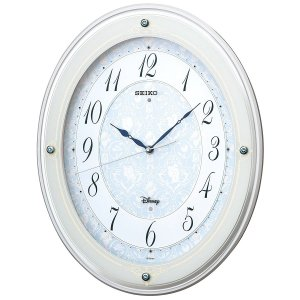 SEIKO CLOCK(セイコークロック) 掛け時計 電波 ディズニープリンセス スワロフスキー メロディ付き FS502W|新品|audio-mania
