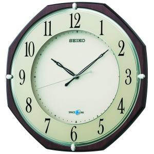 SEIKO CLOCK(セイコークロック) 掛け時計 衛星 電波 アナログ SPACE LINK スペースリンク 茶 木目 模様 GP207B|新品|audio-mania