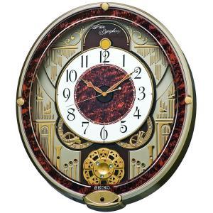 SEIKO CLOCK(セイコークロック) 掛け時計 電波 アナログ からくり 6曲 メロディ 回転飾り 薄金色 パール RE568B |新品|audio-mania