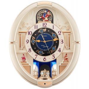 SEIKO CLOCK(セイコークロック) 掛け時計 電波 アナログ からくり トリプルセレクション・メロディ 回転飾り 薄金色 RE572S|新品|audio-mania