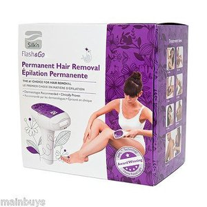 Silk'n FLASH & GO Face and Body Home IPL Hair Removal System 2ランプカートリッジ付|audio-mania