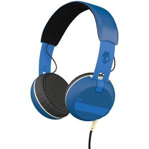 Skullcandy スカルキャンディー ヘッドホン 有線 高音質 マイク付き GRIND  (Royal Blue) S5GRHT-454│ 直輸入品 audio-mania