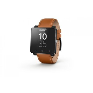 スマートウォッチ ソニー Sony Smartwatch 2 SW2 Leather Strap  Brown レザーストラップ andoroid|直輸入品|audio-mania