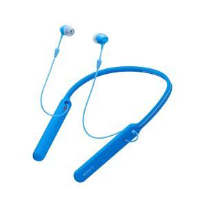 Sony ソニー ブルートゥースイヤホン ワイヤレス WI-C400 Blue  ブルー Bluetooth対応|直輸入品|audio-mania