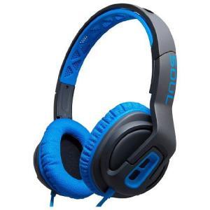 SOUL Electronics ソウルエレクトロニクス ヘッドホン ヘッドフォン 有線 高音質 マイク TRANSFORM Electric Blue スポーツ向け|直輸入品|audio-mania