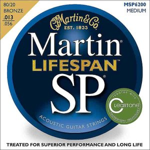 Martin SP 6200 80/20 Bronze Lifespan Coated Acoustic Strings Medium マーチン|audio-mania