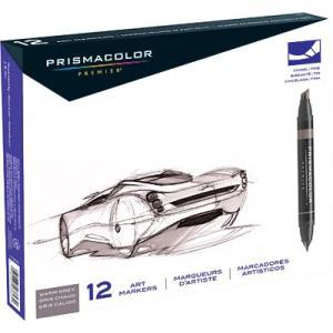 プリズマカラー マーカー SANFORD Prismacolor Marker Premier Chisel Fine Double Ended|audio-mania