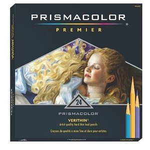 プリズマカラー 色鉛筆 SANFORD Prismacolor Premier Verithin Colored Pencils 24色 セット|audio-mania