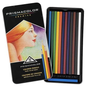 プリズマカラー 色鉛筆 SANFORD Prismacolor 12色 セット|直輸入品