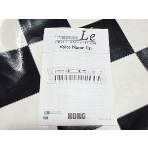 中古|KORG コルグ キーボード TRITON Le music workstation voice name list ボイスメールリスト|audio-mania