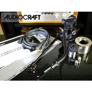 AUDIO CRAFT AC-3000 BLACK 希少トーンアーム シェル/アームパイプ2種/純正ケーブル等付属品多数 Audio Station|audio-st