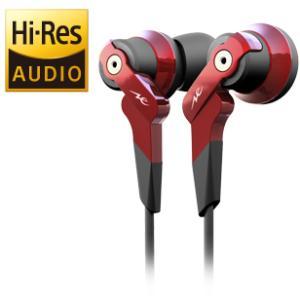 【〜9/24(日)23:59まで最大P29倍】【即納!】Radius HP-NHR11R(赤) ハイレゾ対応インナーイヤーヘッドフォン ラディウス HPNHR11|audio
