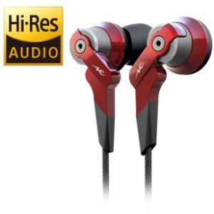 【〜9/24(日)23:59まで最大P29倍】【即納!】Radius HP-NHR21R(赤) ハイレゾ対応インナーイヤーヘッドフォン ラディウス HPNHR21|audio