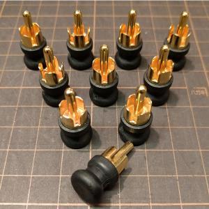 【R08x10個セット!】【入力端子専用】TOMOCA R-08 RCA端子ショートピンプラグ(1個) RCAショートキャップ R08 トモカ電気|audio