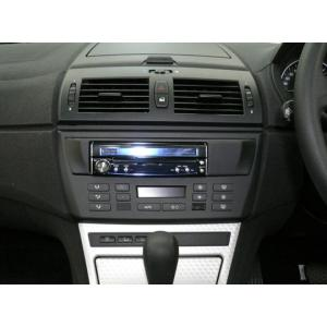 BMW Z4/X3用1DIN取付キット(ブラックパネル) 純正オーディオ付車用 BME83A1D04A pb(ピービー)