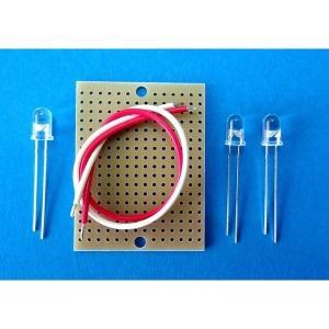 18mA CRD CRLED 定電流ダイオード内臓タイプのLED  φ5/30°白色CRLED+LEDキット(AQ-CRLED18-W3K)LED教材 ハンダ付け要|audioq