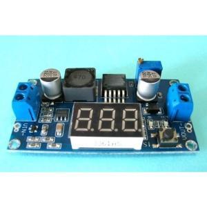 6077昇圧電源モジュール(電圧計付きDCDCコンバーター)AQV-6077VM DC-DC 昇圧 出力電圧調整可 電圧計 7セグ|audioq