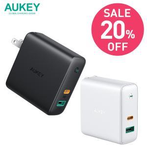 急速充電器 USB タイプC タイプA iPhone Android ノートPC対応 PD対応 AU...