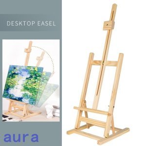 折りたたみ 絵本用イーゼ 画架 木製品 頑丈 小さい デスク 卓上イーゼル 小型イーゼル 案内板 キャンバス 読み聞かせに便利 メニューボード|auratrade