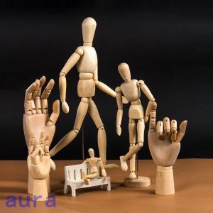 デッサン ドール モデル人形 模型 左手 マネキン 美術用品 木製 雑貨 木製 関節可動 インテリア雑貨 スケッチ 画材|auratrade