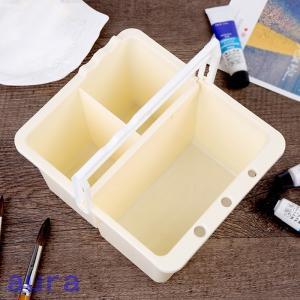 送料無料 スケッチ用品 筆洗いバケツ ペン洗い桶 筆洗器 取り外す 取り外し可能 洗いおけ 便利 絵の具文具 多機能 オシャレ|auratrade