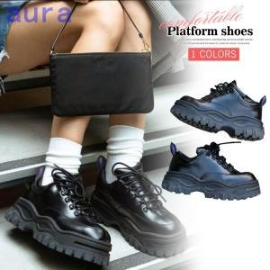 スニーカー 厚底 靴 厚底靴 レディース ウォーキングシューズ 痛くない 柔らかい レースアップ インヒール 5cm スポーツ|auratrade