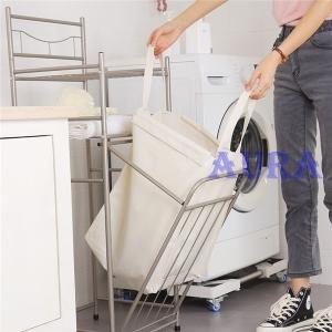 ランドリー用品 バスケット 服洗濯バッグ 家庭用 3段 バスルーム 収納棚 洗濯かご 汚れた服収納 大容量 おしゃれ 収納便利 大きいサイズ|auratrade