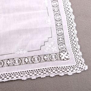 スワトー刺繍スクエアハンカチ 汕頭 スワトウ花嫁 結婚式 婦人用 冠婚葬祭|auro